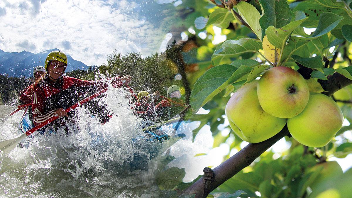 Rafting und Äpfel - AREA 47 Nachhaltigkeit