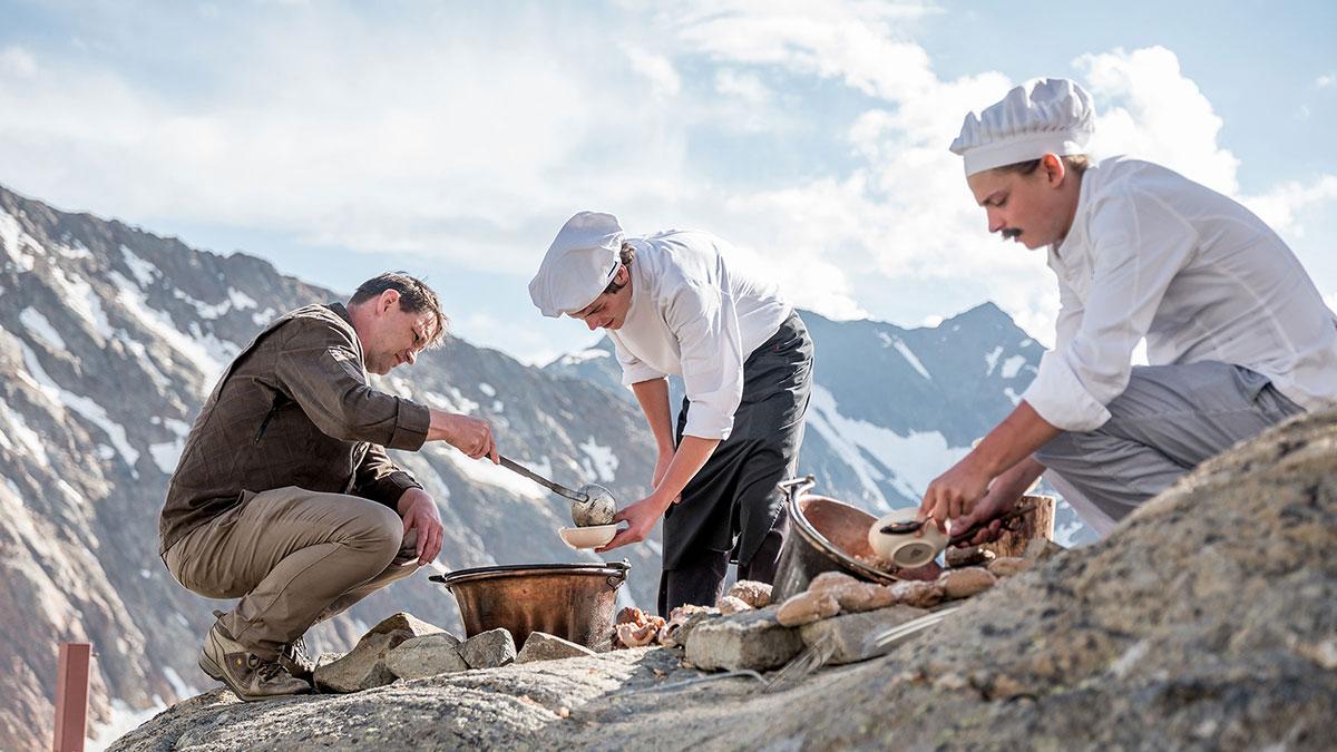 Drei Köche bei der Arbeit - Kulinarik Ötztal