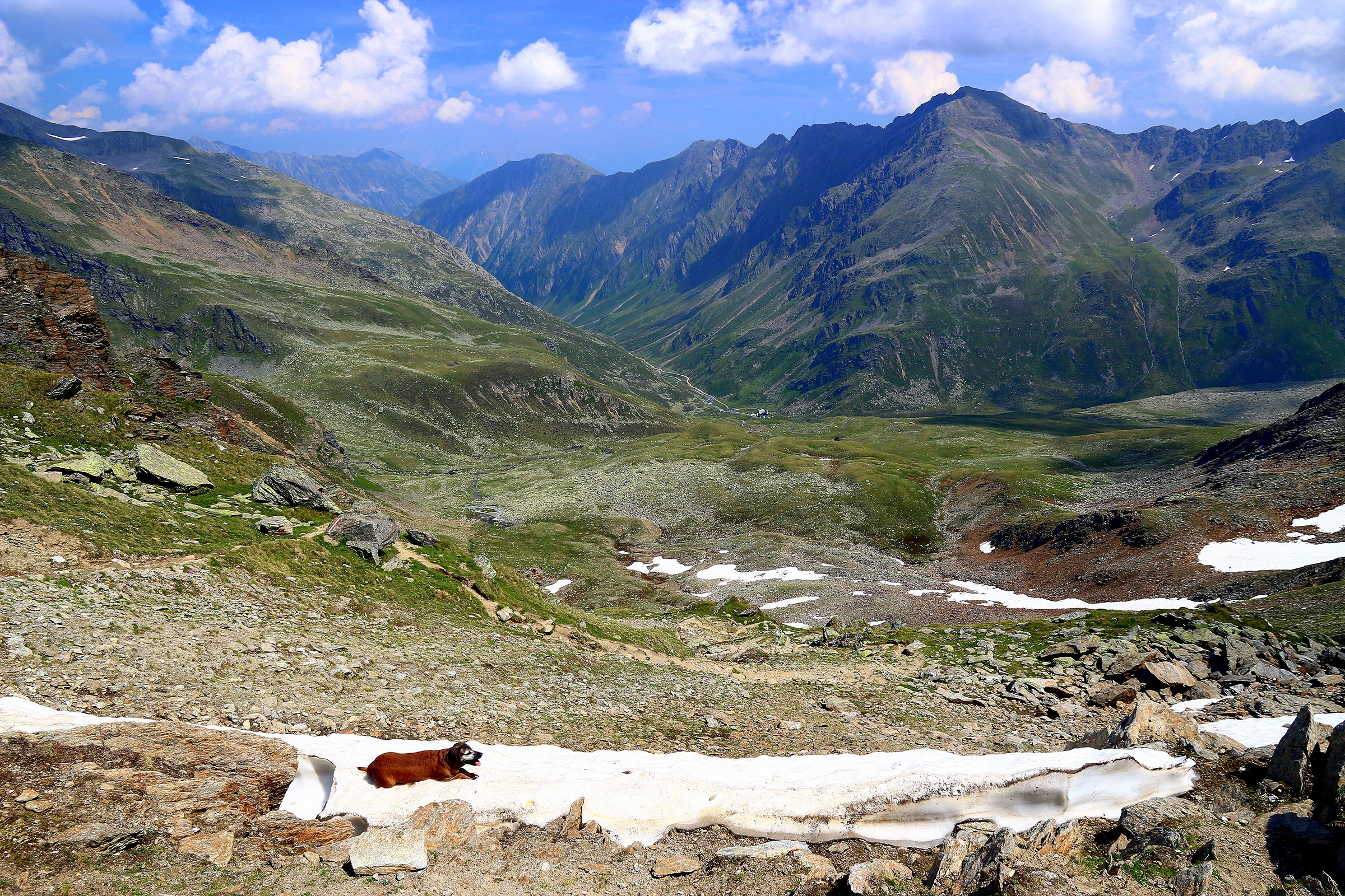 Blick vom Gleirschjöchl ins Gleirschtal - Vom Ötztal ins Sellraintal