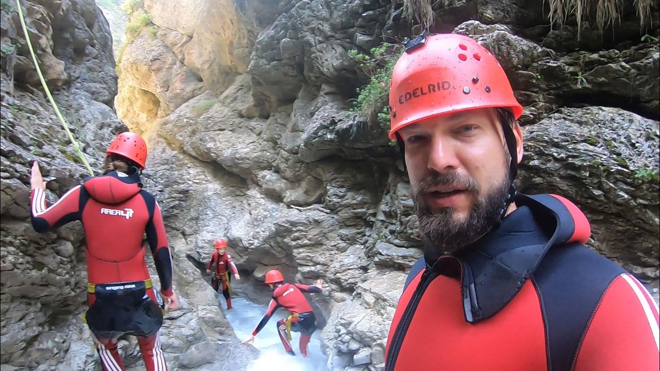 Canyoning mit Kids - Familienurlaub Ötztal Tirol