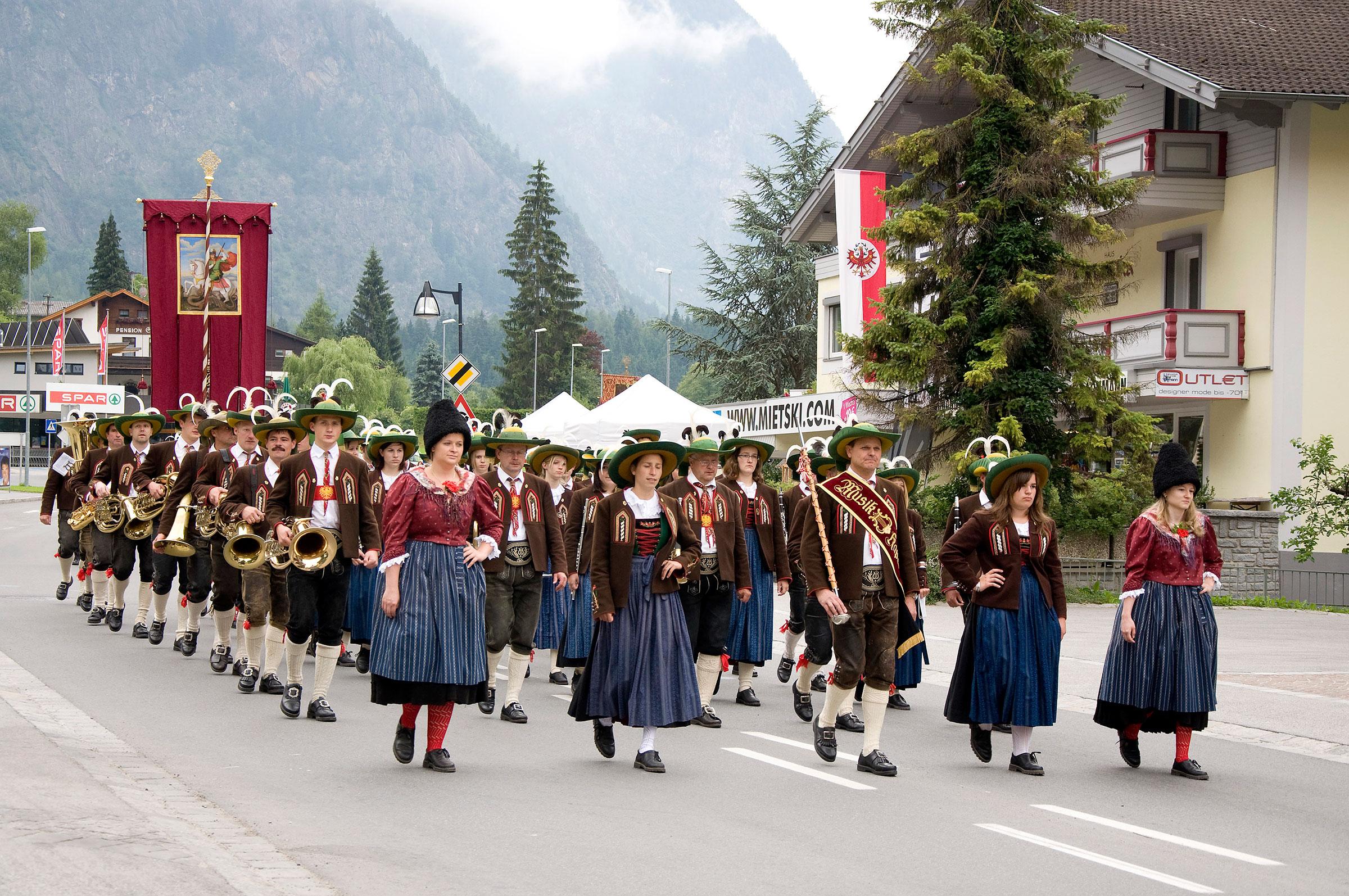 Musikkapelle Oetz - Brauchtum Ötztal Tirol