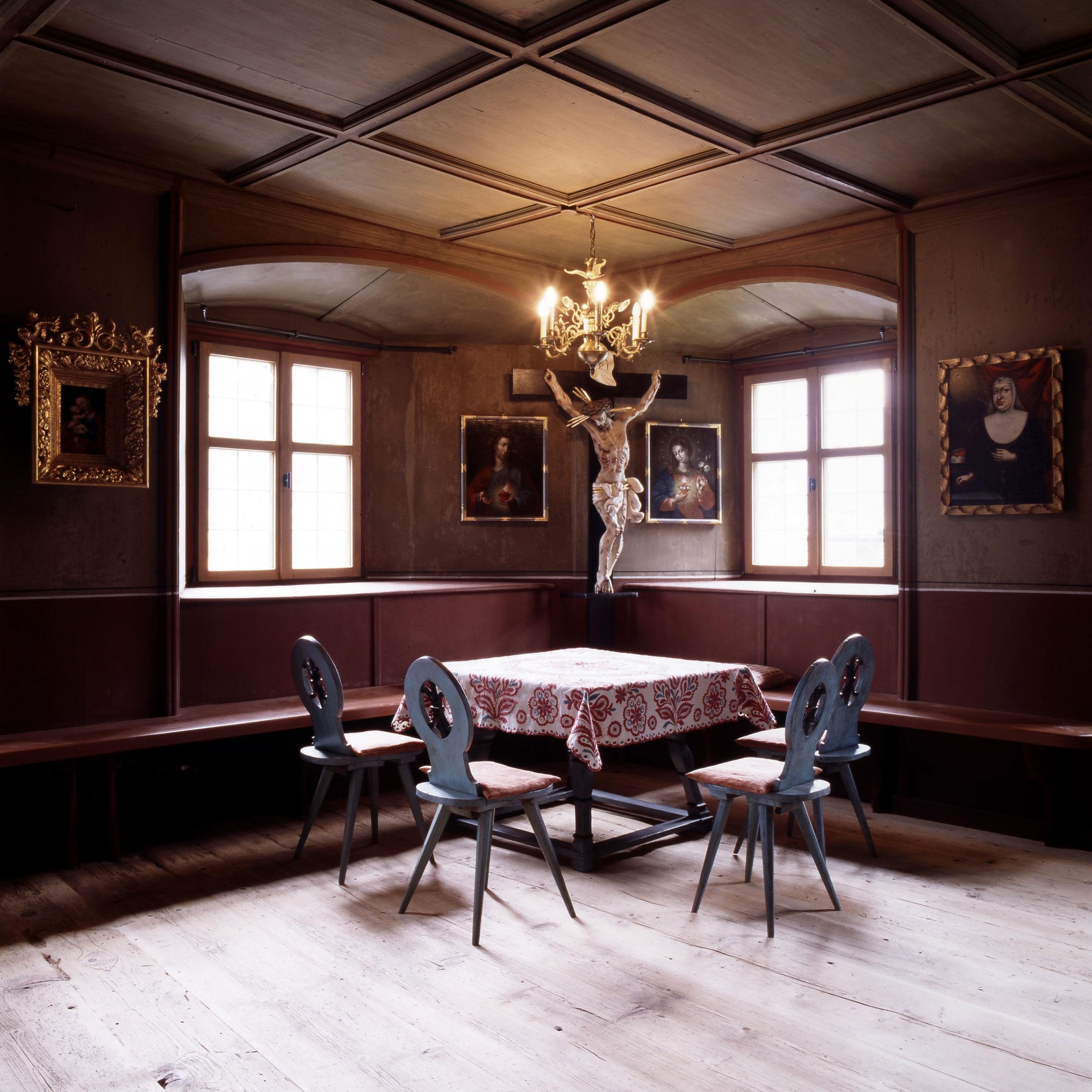 Im Inneren des Turmmuseums in Oetz - Schlechtwetter-Tipps Ötztal