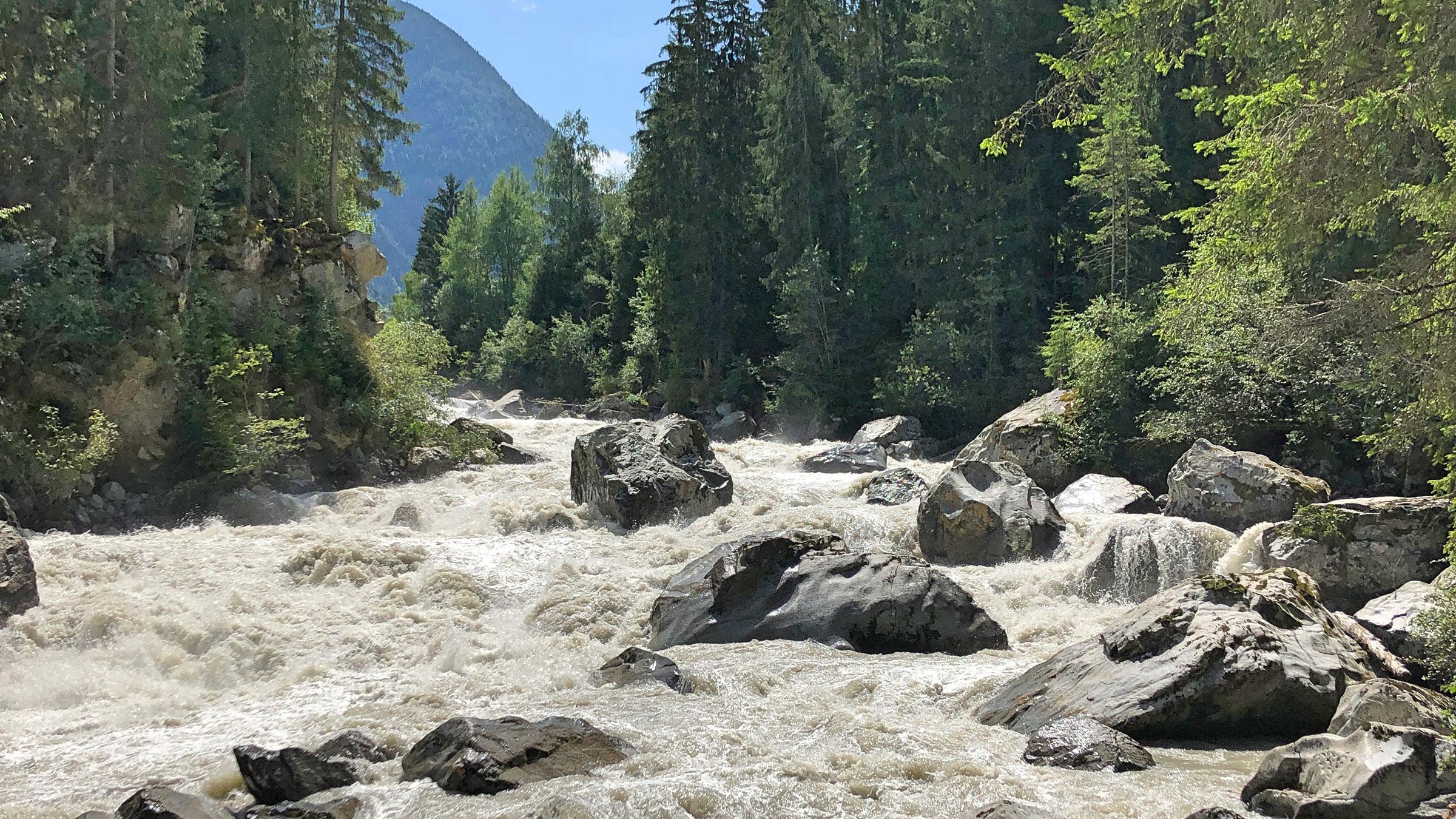 Wellerbrücke bei Oetz - Familienurlaub Ötztal Tirol