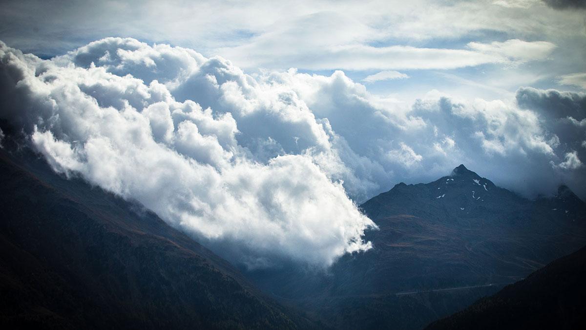 Gewitterwolken am Timmelsjoch - Schlechtwetter-Tipps Ötztal